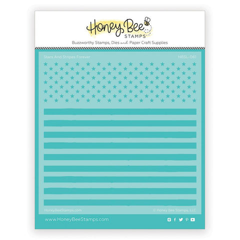 Stars and Stripes Forever Background Stencil by Honeybee Stamps