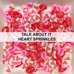 Talk About It Heart Sprinkles by Kat Scrappiness