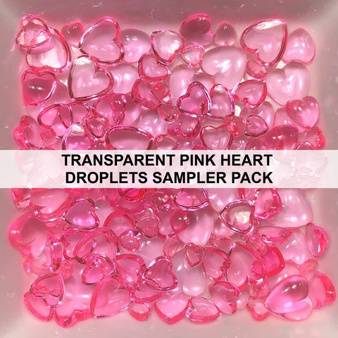 Transparent Pink Heart Droplets Sampler Pack