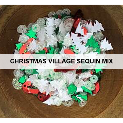 Christmas Village Sequin Mix by Kat Scrappiness