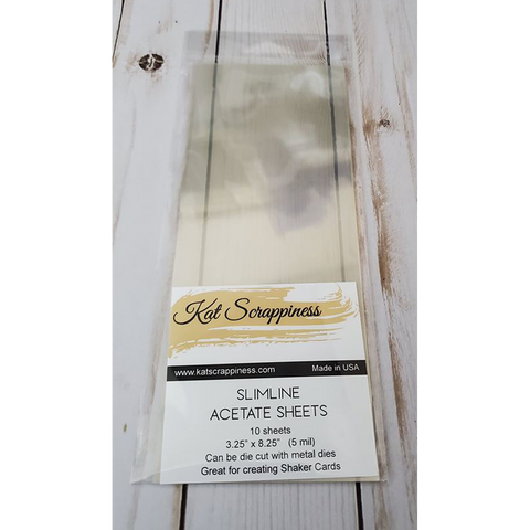 Slimline Acetate Sheets by Kat Scrappiness - 10pk - Kat Scrappiness
