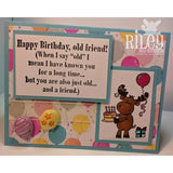 Birthday Cake Riley Cling Stamp by Riley & Co - Kat Scrappiness