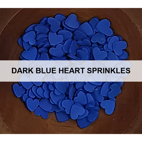 Dark Blue Heart Sprinkles - Kat Scrappiness