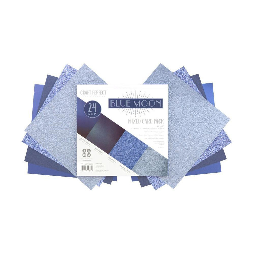 "Craft Perfect Mixed Card Pack 6""X6"" 24/Pkg - Blue Moon"