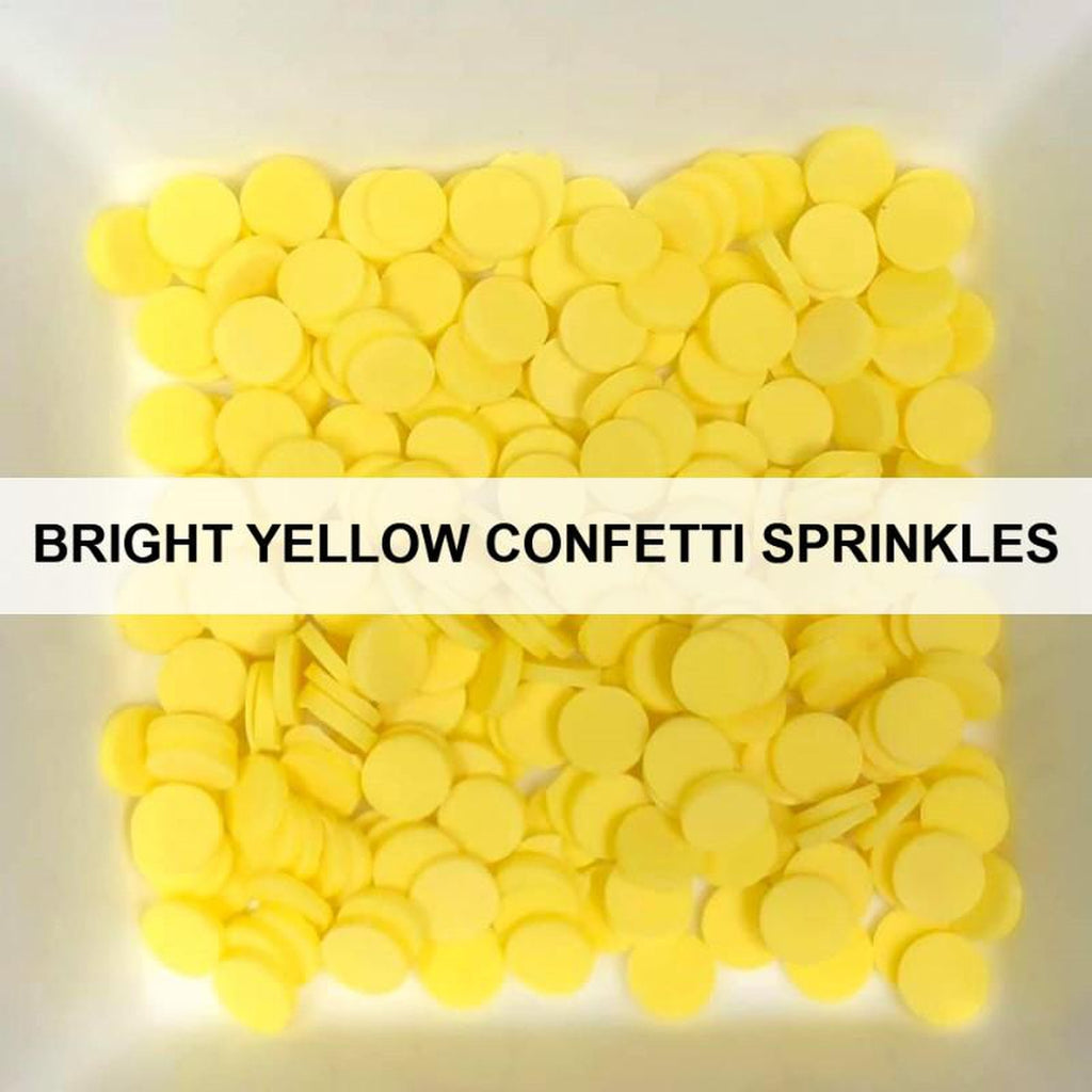 Bright Yellow Confetti Sprinkles by Kat Scrappiness - Kat Scrappiness