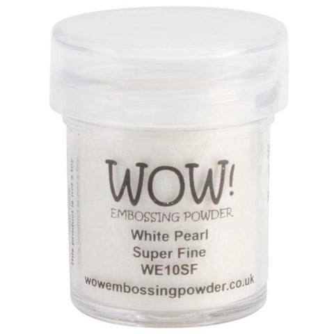 WOW! Embossing Powder Super Fine 15ml - White Pearl - Kat Scrappiness