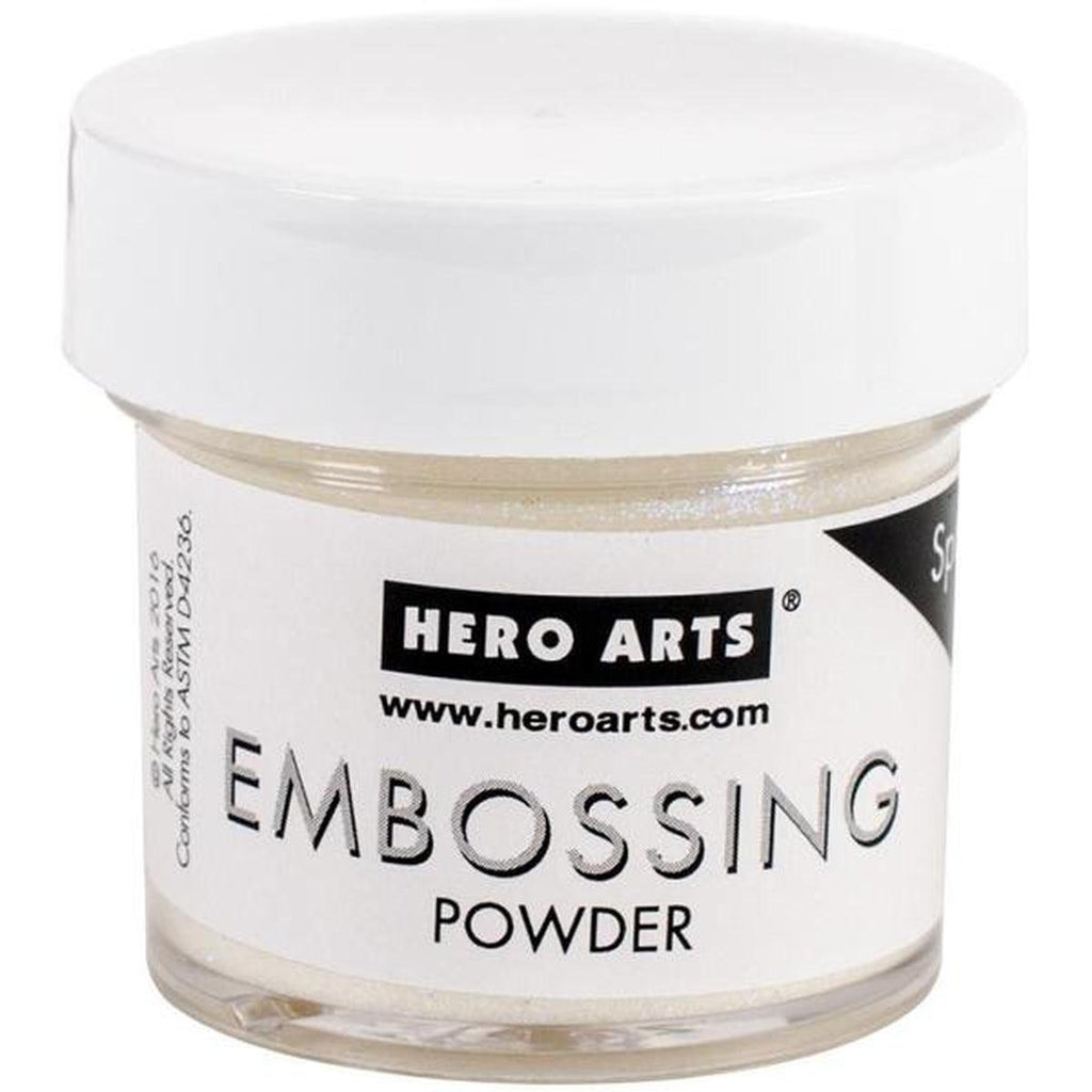 Hero Arts Embossing Powder 1oz White Satin Pearl - Kat Scrappiness