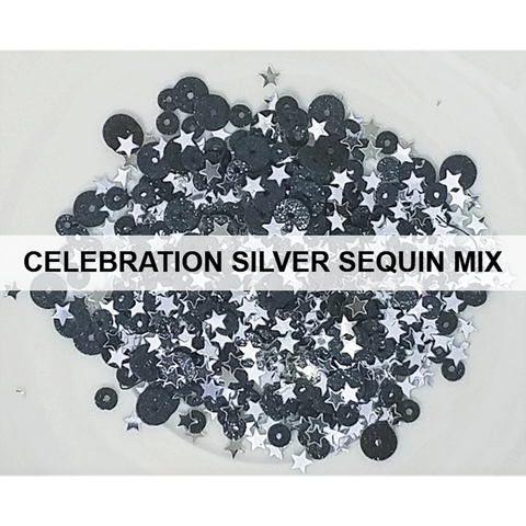 Celebrate Silver Sequin Mix