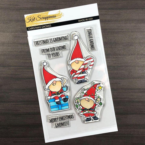 Kat Scrappiness Christmas Gnome Stamp Set
