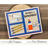 "Crafters Gonna Craft 4""x6"" Clear Stamp Set by Kat Scrappiness - Kat Scrappiness"