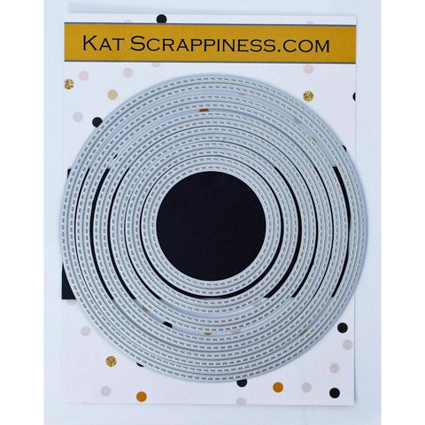 Double Stitched Circle Dies by Kat Scrappiness - Kat Scrappiness