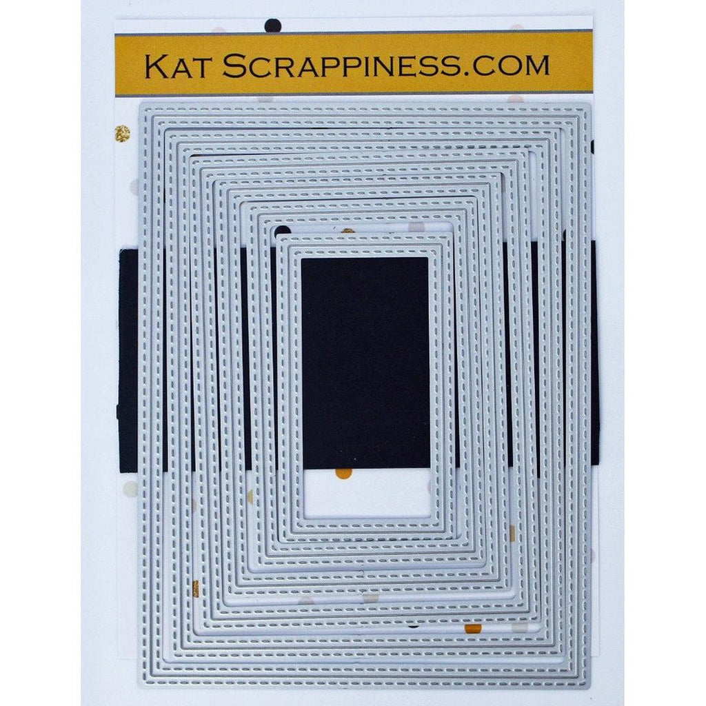 Double Stitched Rectangle Dies by Kat Scrappiness - Kat Scrappiness