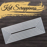 Double Stitched Nesting Slimline Dies by Kat Scrappiness - RESERVE - Kat Scrappiness