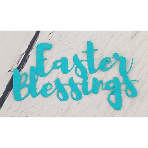 Brush Script Easter Blessings Word Die by Kat Scrappiness