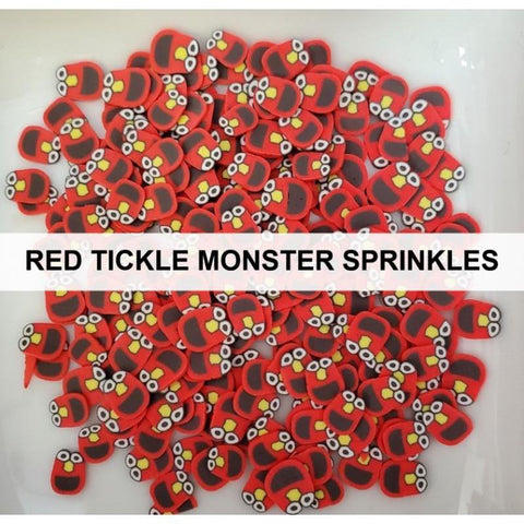 Red Tickle Monster Sprinkles by Kat Scrappiness