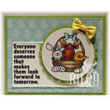 Easter Basket Riley Cling Stamp by Riley & Co - Kat Scrappiness