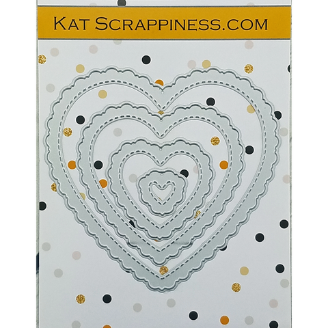 Stitched Fancy Scalloped Heart Dies by Kat Scrappiness - NEW!
