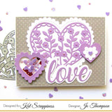 Floral Heart Dies by Kat Scrappiness - Kat Scrappiness
