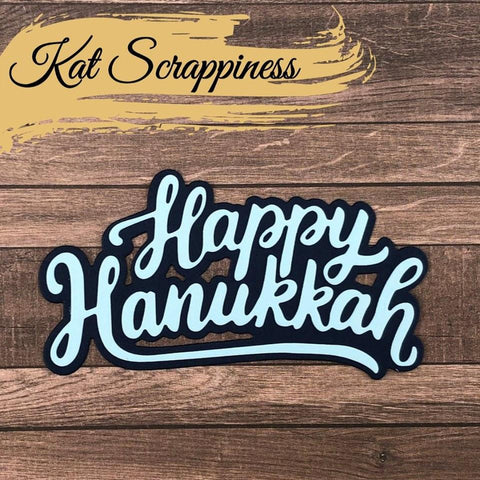 Happy Hanukkah w/Shadow Die by Kat Scrappiness