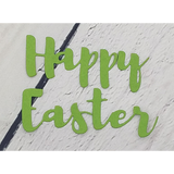 Brush Script Happy Easter Word Die by Kat Scrappiness - Kat Scrappiness