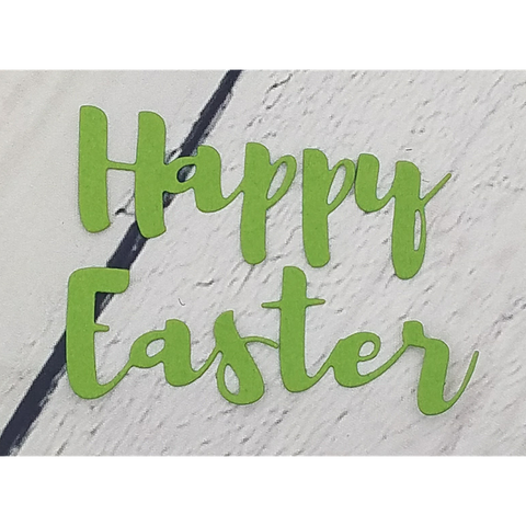 Brush Script Happy Easter Word Die by Kat Scrappiness