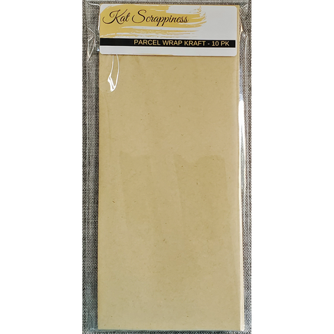 #10 Slimline Envelope - Parcel Kraft 10 pack - Kat Scrappiness