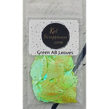 Green AB Leaves Sequins by Kat Scrappiness - Kat Scrappiness
