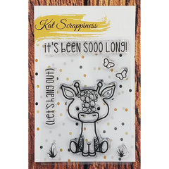 Lola the Giraffe 3x4 Clear Stamps by Kat Scrappiness