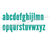Condensed Lowercase Alphabet Dies by Kat Scrappiness