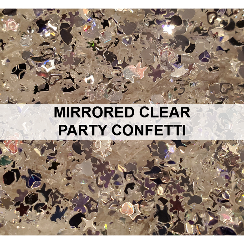 Mirrored Clear Party Confetti - Sequins - Kat Scrappiness