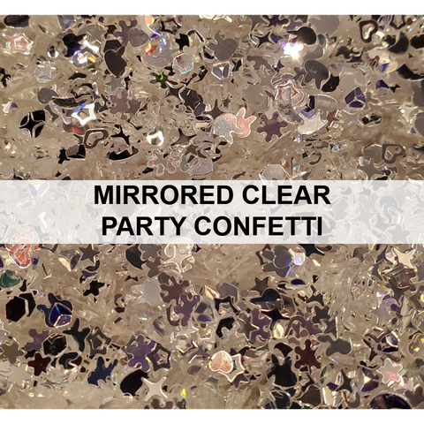 Mirrored Clear Party Confetti - Sequins