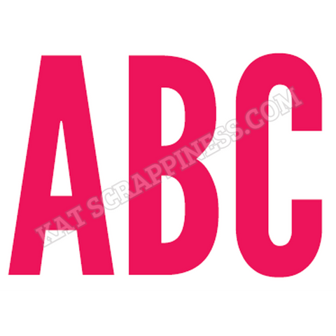 Uppercase Condensed Alphabet Dies by Kat Scrappiness