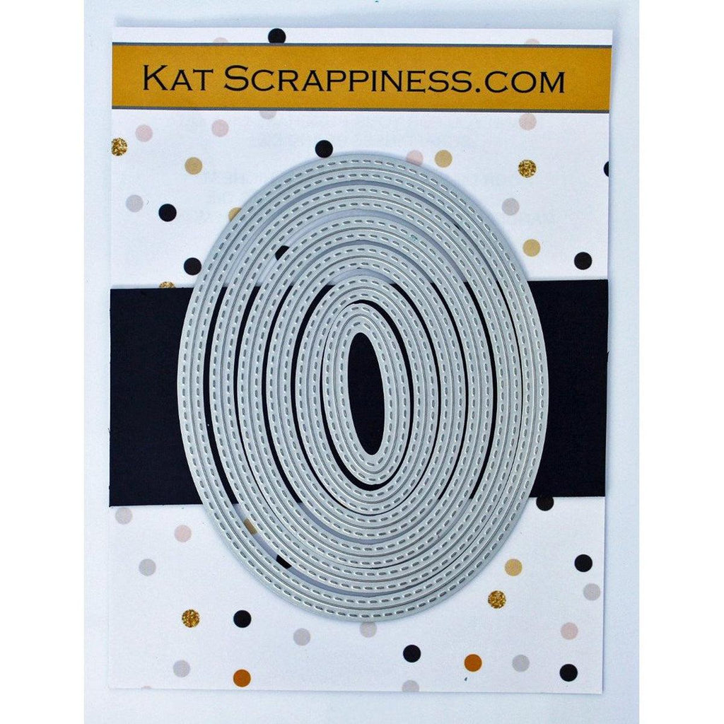 Double Stitched Oval Dies by Kat Scrappiness - Kat Scrappiness