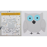 Cute Layered Owl Die Set by Kat Scrappiness - Kat Scrappiness