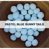 Pastel Blue Bunny Tails - Kat Scrappiness