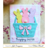 Stitched Easter Bunny Outline Dies by Kat Scrappiness - RESERVE NOW - Kat Scrappiness