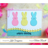 Stitched Easter Bunny Outline Dies by Kat Scrappiness