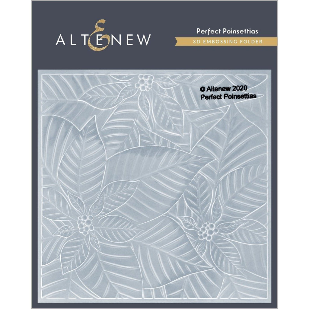 Perfect Poinsettias 3D Embossing Folder by Altenew