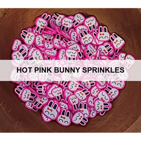 Hot Pink Bunny Sprinkles - Kat Scrappiness