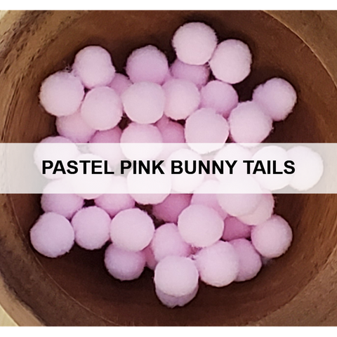 Pastel Pink Bunny Tails - Kat Scrappiness