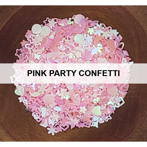 Pink Party Confetti - Sequins - Kat Scrappiness