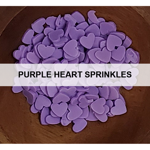 Purple Heart Sprinkles - Kat Scrappiness