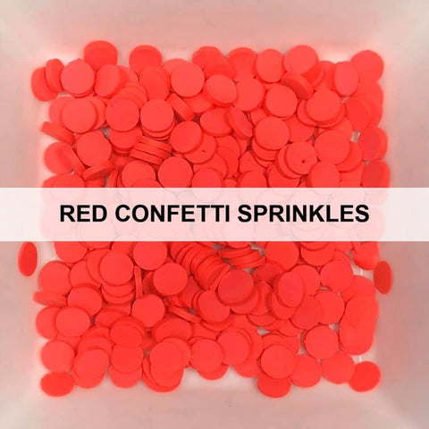 Red Confetti Sprinkles by Kat Scrappiness - Kat Scrappiness