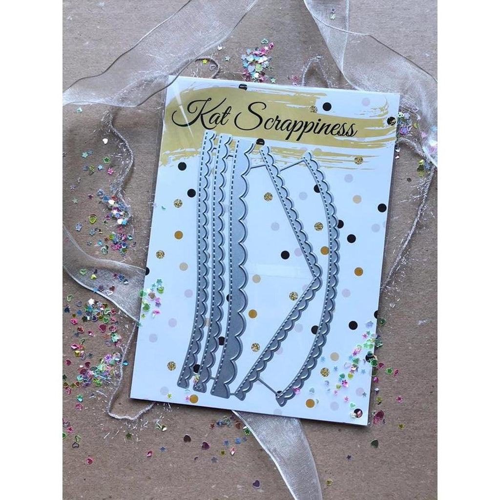 Stitched Scalloped Border Dies by Kat Scrappiness