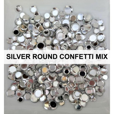Silver Solid Confetti Sequin Mix