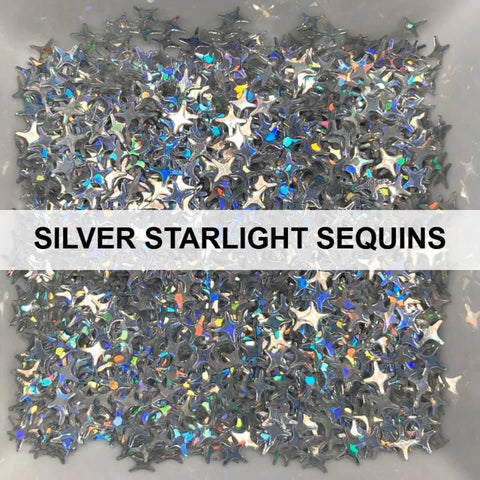Silver Starlights - Sequins - Kat Scrappiness