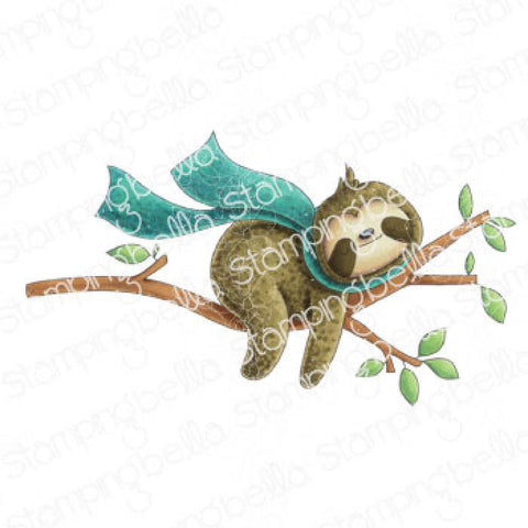 Sloth on a Branch Cling Stamp by Stamping Bella