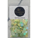 Spring Leaves Sequin Mix - Shaker Card Fillers