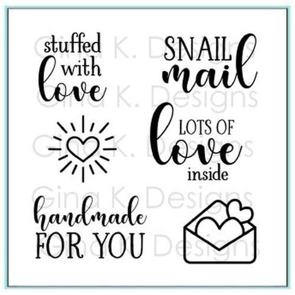 "Stuffed with Love 4""X4"" Clear Stamps by Gina K. Designs - Kat Scrappiness"