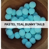 Pastel Teal Bunny Tails - Kat Scrappiness